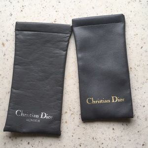 Two Dior eyeglass cases